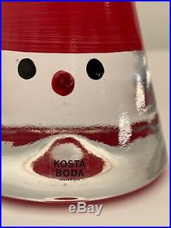 Kosta Boda Swedish/Scandinavian Retired Noel Santa Figures (2) 4 & 6 Ex. Cond
