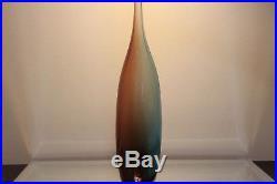 Kosta Boda TOBAGO Bottle Bud Vase Signed Designer Kjell Engman 17 Tall Mint