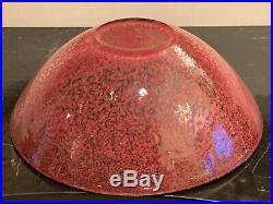 Kosta Boda Tellus Large 12 Red Art Glass Bowl Designed by Anna Ehrner