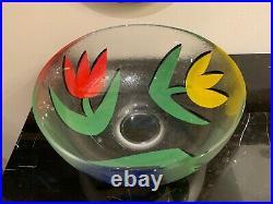 Kosta Boda Ulrica By Hydman-Vallien Tulipa Tulip Large Glass Bowl 11 1/4