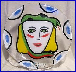 Kosta Boda Ulrica Hydman-Vallien Julia 15 1/2 Plate or Round Platter