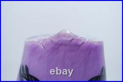 Kosta Boda Ulrica Hydman-vallien Large Vase Open Minds In Purple On Foot
