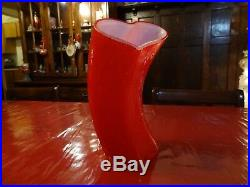 Kosta Boda Valentine Heart Glass Vase Spring 2009 Artist Signed 11-1/2 Rare