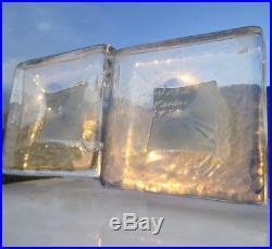 Kosta Boda Vallien Sweden Mid-century Modern Crystal Candle Holders Candlesticks