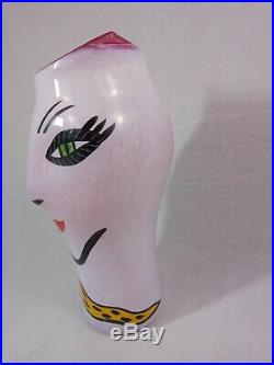 Kosta Boda Vase Open Minds Ulrica Vallien Signed Rare Pink 13 X-Large withSticker