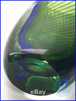 Kosta Boda Vicke Lindstrand Pearl Fisherman Mid-Century Modernist Art Glass Vase