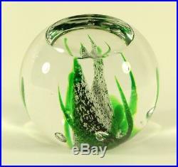 Kosta Boda Vicke Lindstrand Seaweed Studio Cased Art Glass Paperweight Signed