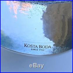 Kosta Boda Well Horse Art Glass Sculpture by Kjell Engman