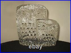 Kosta Body Erik Hoglund Mid Century Modern Owls Crystal Sculpture
