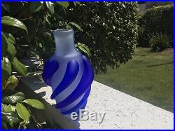 Kosta Bosa Signed Blue Swirl Vase- Rare