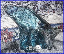 Kosta Reijmyre Paul Hoff Slominski glass figurine WWF animals fish Trachurus
