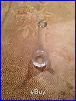 Kosta Signed Lh 1170 Clear Glass Tall Vase Designed Vicke Lindstrand Sweden Art
