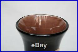 Kosta Sigurd Persson. Unik Vase In Brown And Yellow. Very Rare