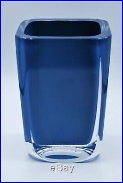 Kosta Sigurd Persson. Vase In Blue. Signed