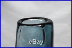Kosta Vicke Lindstrand. Hudge And Heavy Vase In Gray/blue. Signed. 28 CM