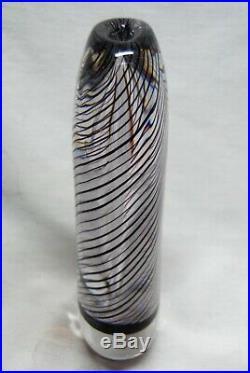 Kosta Vicke Lindstrand. Large, Heavy Vase With Purple Threats
