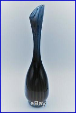 Kosta Vicke Lindstrand. Large Thickwalled Vase Colora Lc1. Signed
