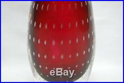 Kosta Vicke Lindstrand. Red Vase With Controled Airbubbles. Lh