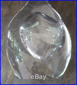 Kosta Vicke Lindstrand Tall Modern Glass Orchid Double Vase Unusual Shape 13.6