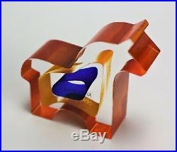 Kosta boda Dobbin Paperweight by Bertil Vallien Mini Sculpture