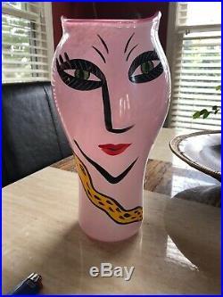 Kosta boda Open Face Vase In Pink