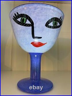Kosta boda@Open minds@Ulrica Hydman Vallien@glass bowl@Collectibles@