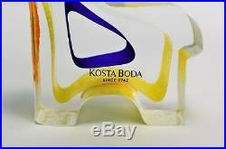 Kosta boda Paperweight Dobbin Bertil Vallien Mini Sculpture