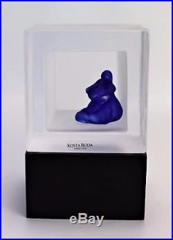 Kosta boda Snapshot Sculpture by Kjell Engman Signed