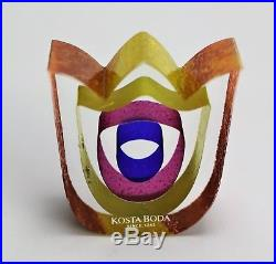 Kosta boda Tulip Paperweight by Bertil Vallien Mini Sculpture