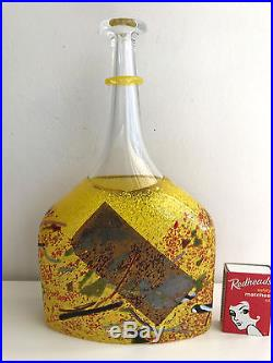 Kosta boda satelite bottle vase Bertil Vallien Sweden studio glass 23.8 cms high
