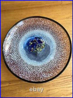 Kosta boda scandinavian glass bertil vallien meteor dish
