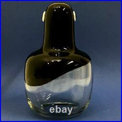 LARGE GLASS SWEDEN KOSTA BODA VINTAGE YEARS 70s FANTASTIC PENGUIN bertil vallien