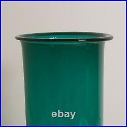 LARGE Holmegaard Per Lutken 1961 Greenland Studio Glass Vase 25 cm Tall Signed