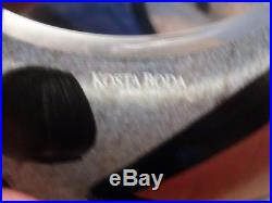 LARGE Vintage Kosta Boda Ulrican Uhvin Art Glass Bird Vase Signed 11