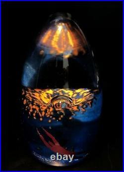 LIMITED Signed BERTIL VALLIEN KOSTA BODA Sculpture Art Man Sea Polycrome Glass