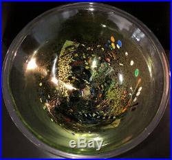LTD! KOSTA BODA ATELIER SWEDEN BERTIL VALLIEN Signed Green Polychrome Bowl, Mint
