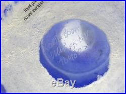 Large 14 Kosta Boda Ulrica Hydman Vallien Open Minds Blue Art Glass Vase