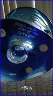 Large Kosta Boda Elegant Rare Sapphire Vase Goran Warff New ARTIST'S CHOICE