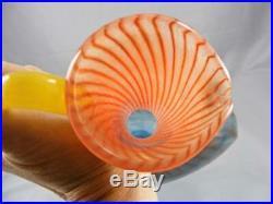 Large Signed Kjell Engman For Kosta Boda Art Glass Bonbon Ewer/pitcher 89066