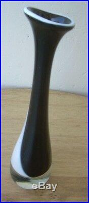 Large Vicke Lindstrand For Kosta Boda Black&white Vase