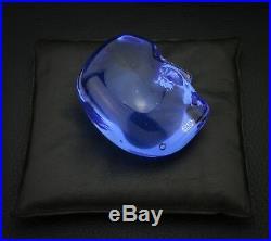 Lim Ed. Bertil Vallien Silver Blue Brain with Black Pouch Kosta Boda Sweden