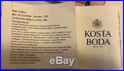Limited Edition Bertil Vallien Blue Brain & Stand Kosta Boda Sweden Tetra Pak