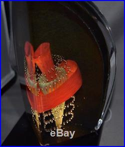 Limited Edition Signed Kosta Boda Glass Sculpture on Lighted Base 23/40