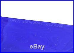 Limited ed. Rare Blue Glass Block with Head Bertil Vallien Kosta Boda Signed