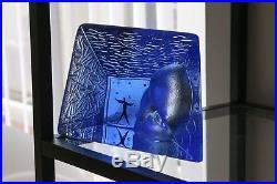 Limited edition Blue Brain House Kosta Boda Bertil Vallien