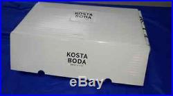 Lovely KOSTA BODA 7040535 11.25 ARIA VASE GREEN Goran Warff Brand New in Box #B