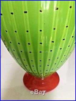 Lrg Transjo Hytta Sweden 9 Art Glass Vase vintage Kosta Boda masters chartreuse