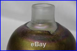 MCM Kosta Boda BERTIL VALLIEN Iridescent Artist Coll TORNADO Art Glass 7 Vase