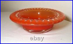 MID Century Mod Kosta Sigurd Persson Large Cut To Clear Studio Art Glass Bowl