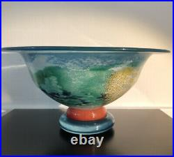 MINT! KJELL ENGMAN KOSTA BODA SWEDEN Signed Artist Collection CANCAN Glass Bowl